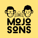 mojosons logo yellow background